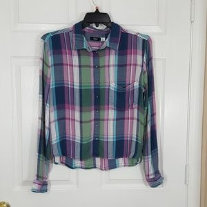 BDG plaid button down shirt